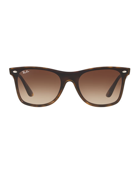 Men's Blaze Wayfarer Lens-Over-Frame Square Gradient Sunglasses