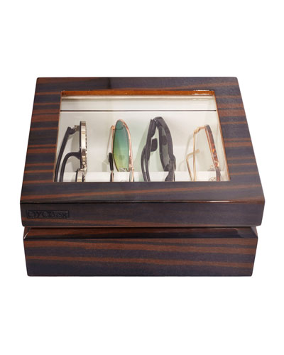 Mini Wooden Eyewear Organizer Case