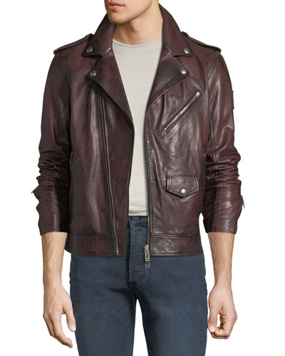 Men's Sidmouth Hand-Wax Leather Jacket