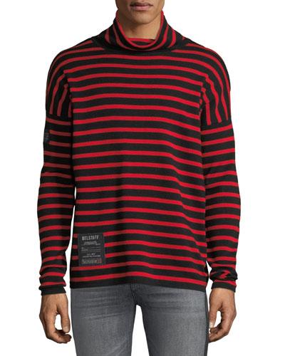 Men's Laburnum Novelty Striped Wool Turtleneck Sweater