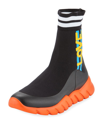 Men's LOVE High-Top Sock Running Sneakers