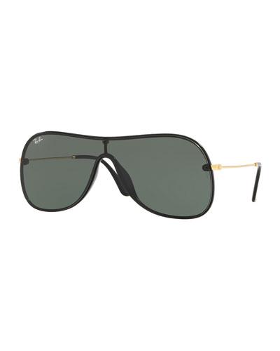 Men's Lens-Over-Frame Aviator Sunglasses