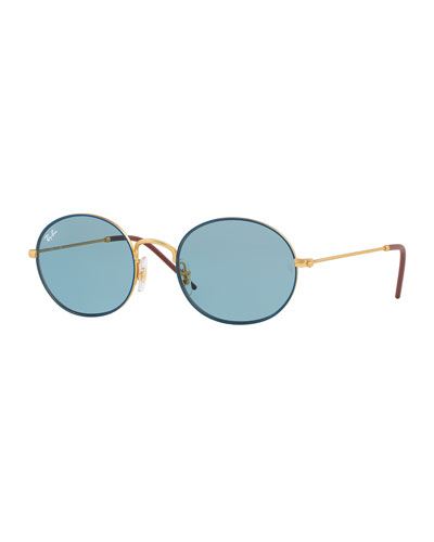 Men's RB3594 Round Sunglasses, Blue