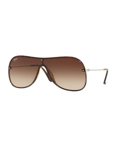 Men's Lens-Over-Frame Gradient Aviator Sunglasses