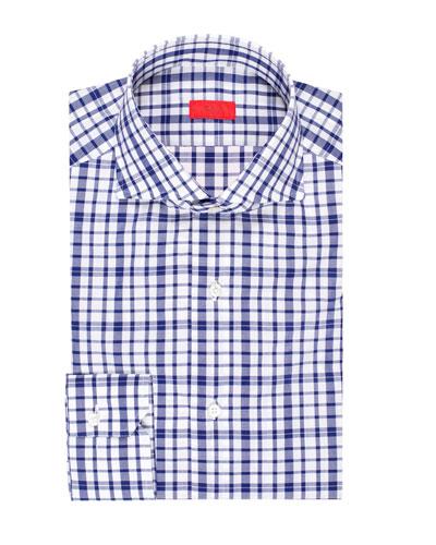 Men's Large-Check Cotton Dress Shirt