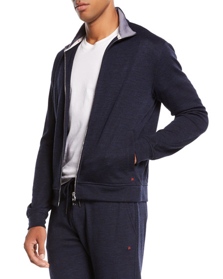 Men's Heathered Jersey Track Suit