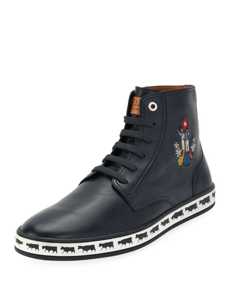 Bally Men's Alp Star Leather High-Top Sneakers