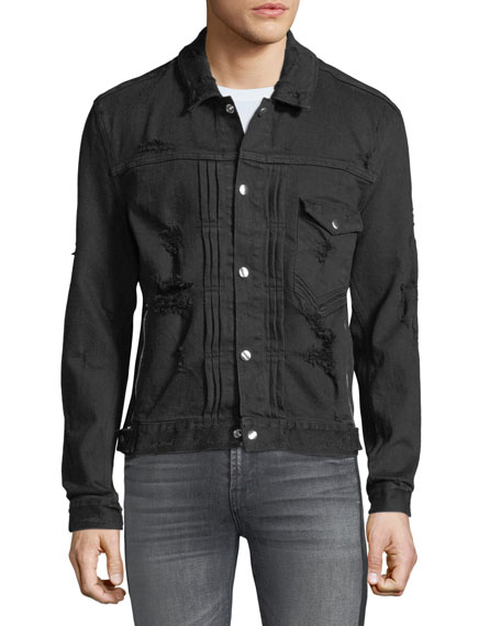 Men's Destroyed Denim Jacket