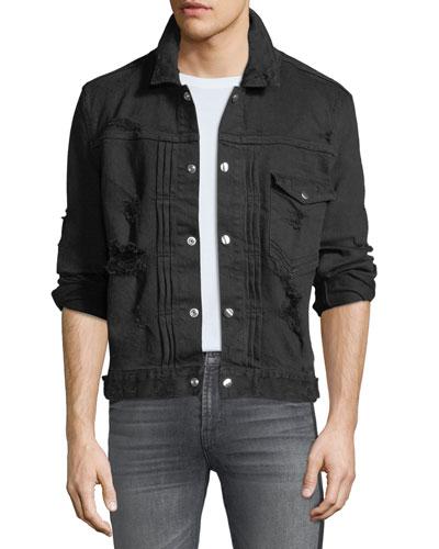 Men's Destroyed Denim Jacket