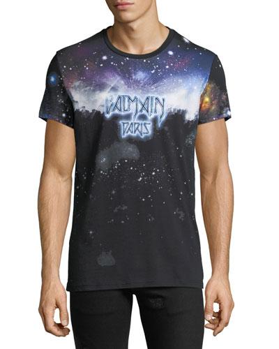 Men's Galaxy-Print T-Shirt
