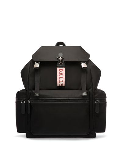 Men's Flap-Top Nylon Backpack