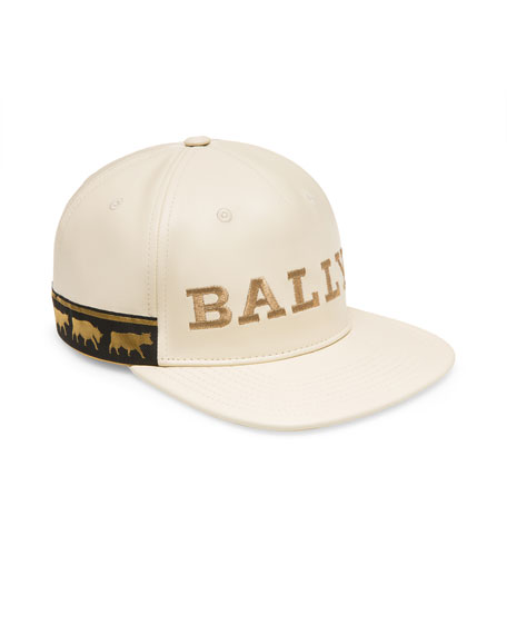 Bally Men's Logo-Embroidered Leather Baseball Hat