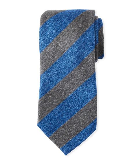Charvet Textured Stripe Silk Tie