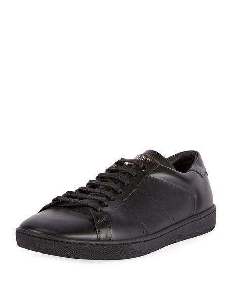 22db1cb8ec23 Saint Laurent SL 01 Men s Leather Low-Top Sneakers