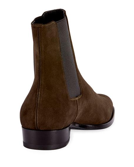 f69161cda858 Saint Laurent Wyatt 30 Suede Chelsea Boot