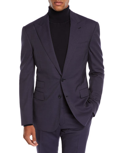 Men's Mini Pin-Dot Two-Piece Wool Suit