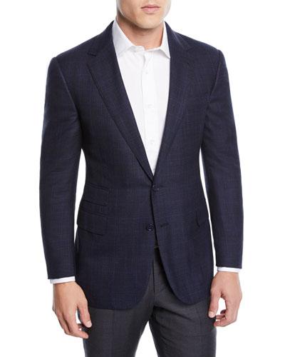 Men's Two-Tone Wool-Blend Sport Coat