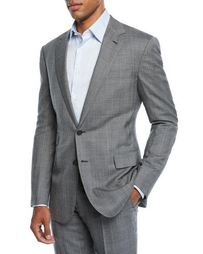 Men's Two-Piece Overcheck Suit