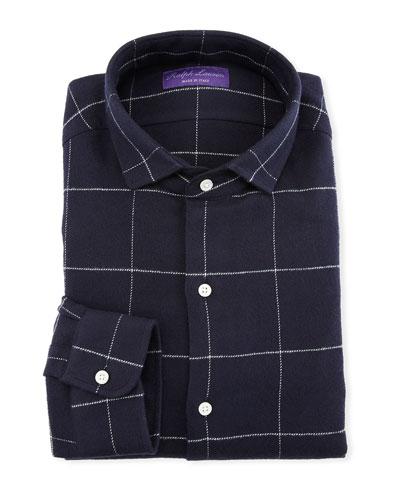 Men's Windowpane Dress Shirt