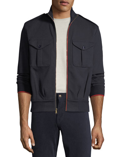 Men's Contrast-Trim Track Jacket