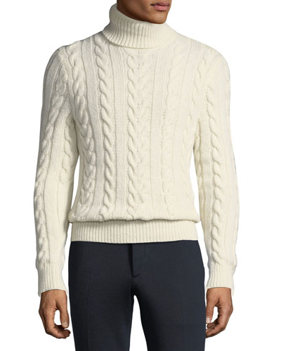 Men's Cashmere Turtleneck Sweater
