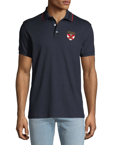 Men's Logo Crest Polo Shirt