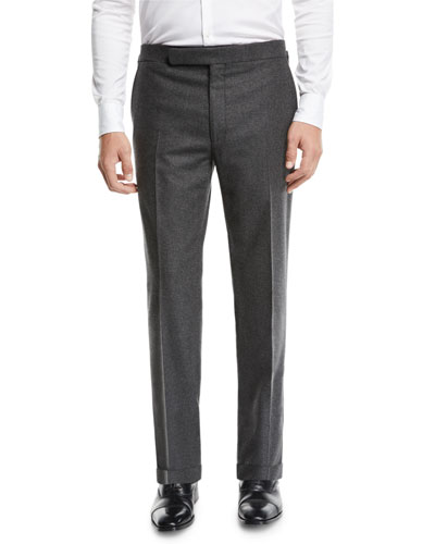 Men's Heathered Flannel Trouser Pants