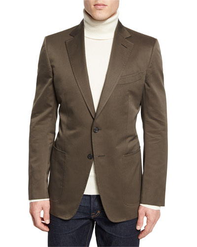 O'Connor Base Gabardine Sport Jacket  Olive