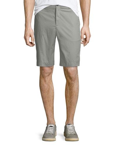 Men's Poplin Flat-Front Shorts