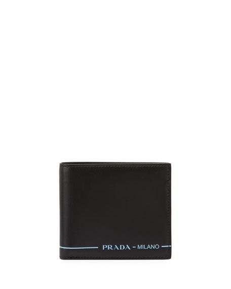 9b6cb74d896e54 ... new zealand prada mens smooth leather bi fold wallet ebffc 08e5d