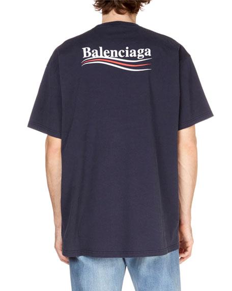 909b1be4eee8 Balenciaga Men's Campaign-Logo Crewneck T-Shirt