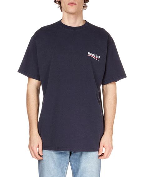 165128d0 Balenciaga Men's Campaign-Logo Crewneck T-Shirt