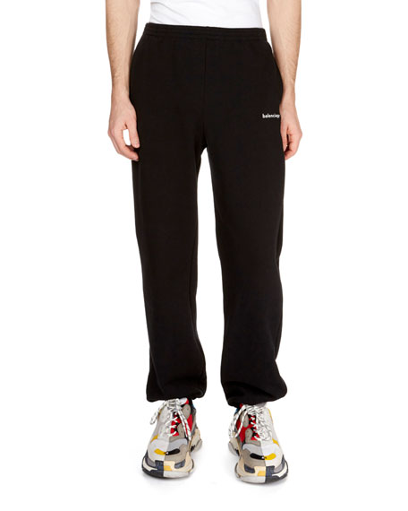 d954bf94edaf59 Balenciaga Men's Copyright Logo Sweatpants