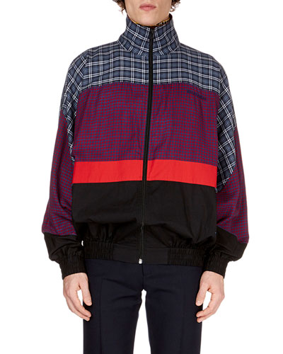 Men's Patch-Pattern 80s Anorak Jacket