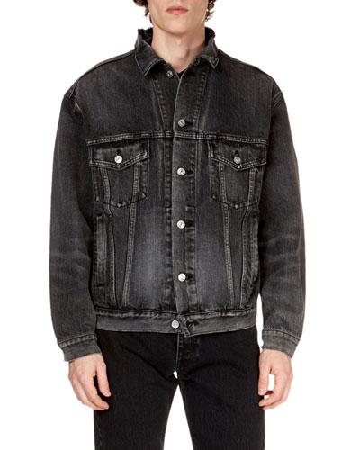 Men's Logo-Graphic Denim Jacket