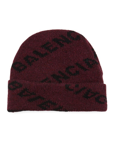 Men's Intarsia Knit Beanie Hat