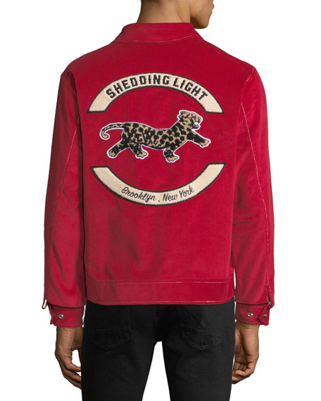 Men's Shedding Light Zip-Front Corduroy Jacket