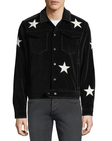 Men's Star-Motif Snap-Front Jacket