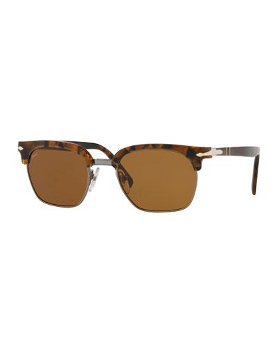 PO3199S Rectangular Sunglasses with Gradient Lenses