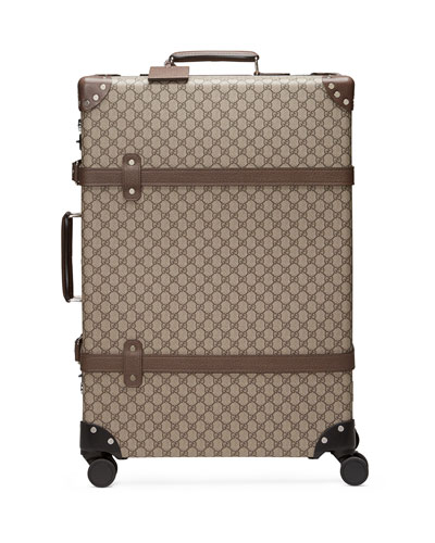 Men's Globe-Trotter Large GG Canvas Suitcase Luggage