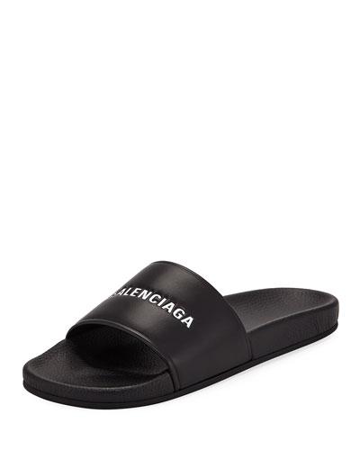 Embossed Logo Pool Slide Sandal