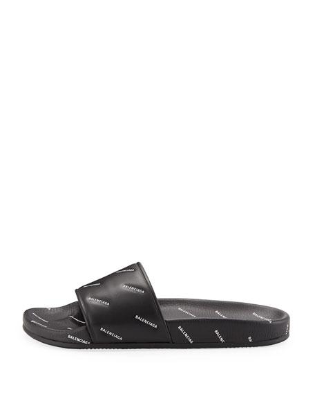 Men's Logo-Print Pool Slide Sandals