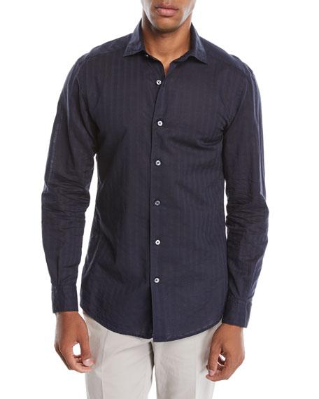 Men's Tonal-Stripe Button-Down Shirt