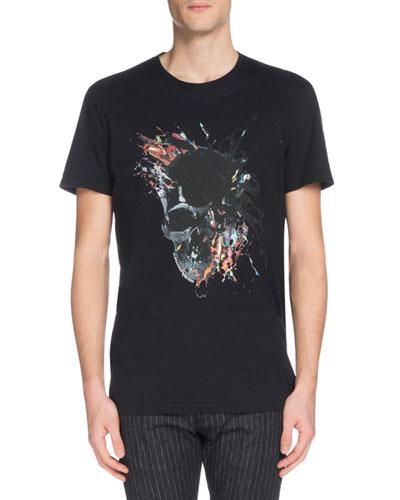 Men's Skull Graphic Crewneck T-Shirt