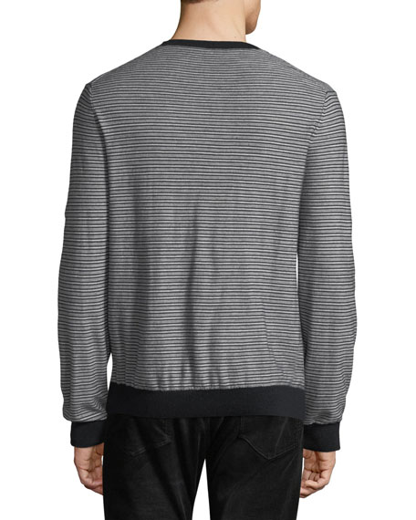 Men's Striped Wool-Cashmere Sweater