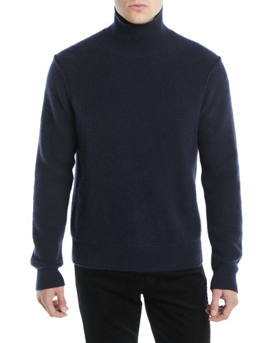 Men's Turtleneck Long-Sleeve Cashmere Pullover Sweater