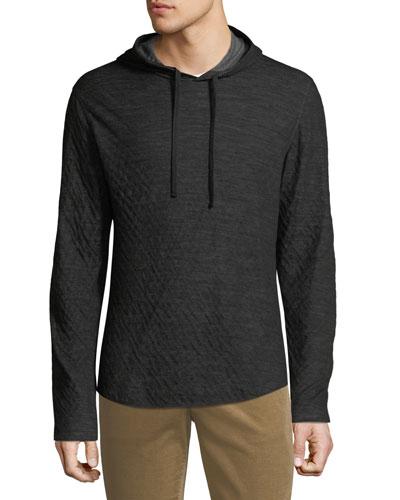 Men's Contrast Double Knit Jersey Hoodie