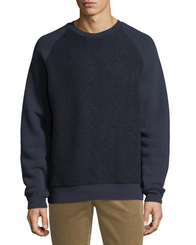 Men's Crewneck Teddy Combo Sweatshirt