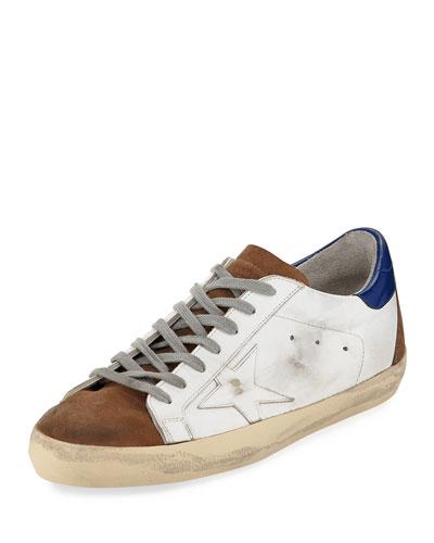 Men's Superstar Tricolor Leather Low-Top Sneakers