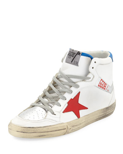 Men's 2.12 Tricolor Leather High-Top Leather Sneakers